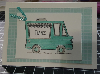 Cool treat truck watercolor pencil
