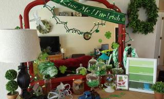 St. pattys display