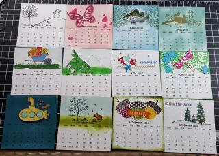 Mini Cd Calendar 2016