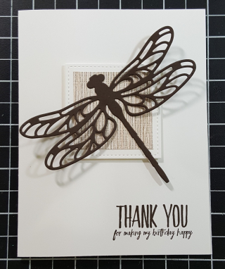 Birthday Thank you Dragonfly