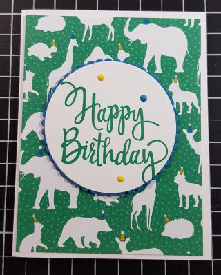 Animal birthday bonus card